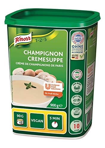 Knorr Champignon Cremesuppe Trockenmischung (cremiger, runder Champignongeschmack) 1er Pack (1 x 900 g)