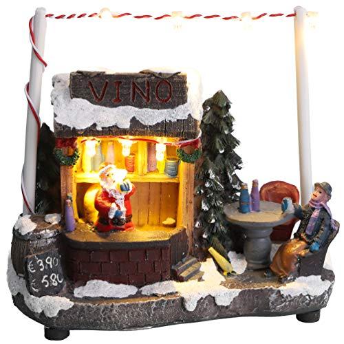 Christmas Concepts® - Escena de Mercado navideño con luz LED de 5