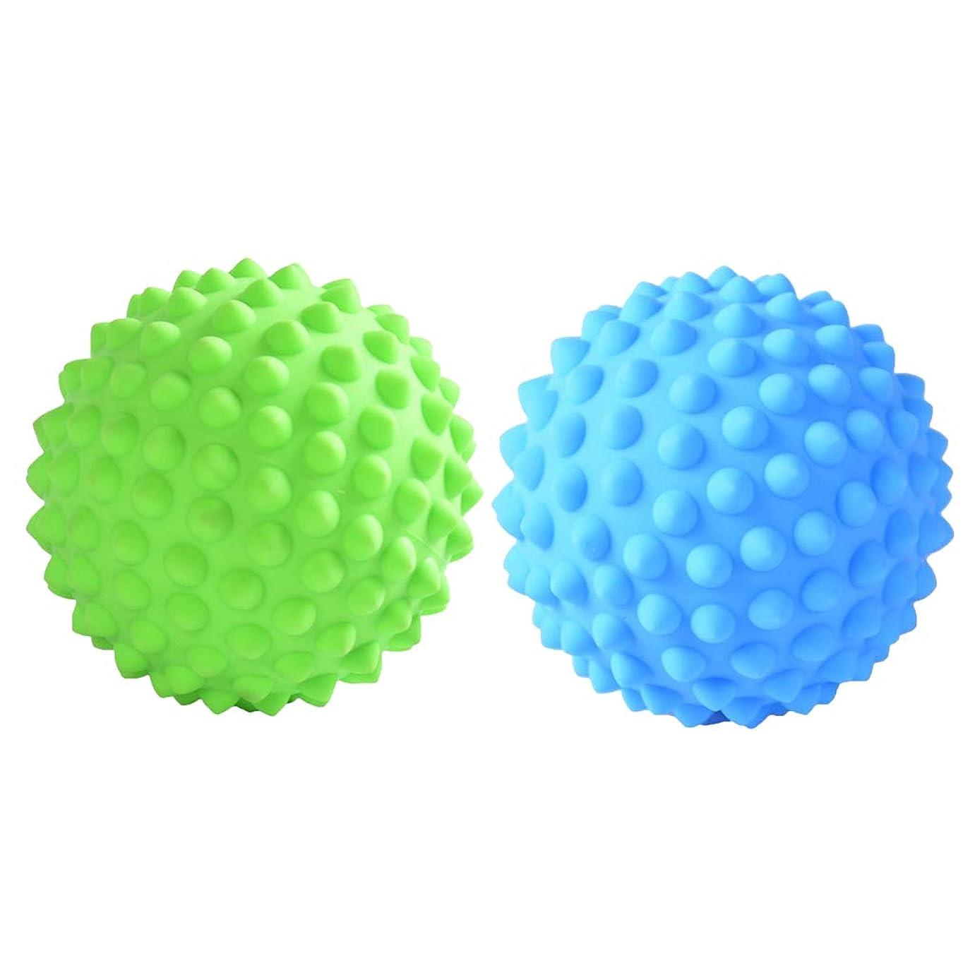 適用済み美的かろうじてマッサージローラーボール 指圧ボール PVC トリガーポイント 筋膜 疲労軽減 健康的 2個入