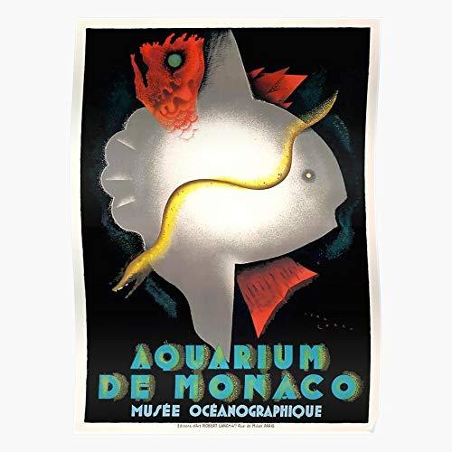 Generic Aquarium Oceanographique Monaco Carlu Jean Art Vintage Du Musee Home Decor Wandkunst drucken Poster !