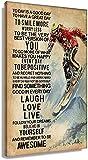 APAZSH Cuadros Decoracion Póster Vintage para Amantes del esquí, Cuadros Verticales de la Naturaleza, Ilustraciones, Decoracion de Lienzo de Cocina, Pintura Moderna para Pared 50x70cm x1 Sin Marco