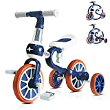 Kids Tricycles for 2 Years Old and Up Boys Girls Tricycle Kids Trike Toddler Tricycles for 2-4 Years Old Kids Toddler Bike Trike 3 Wheels Tricycle Kids Walking Tricycle