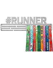 UNITED MEDALS Colgador de medallas en funcionamiento #RUNNER - soporte de acero inoxidable …