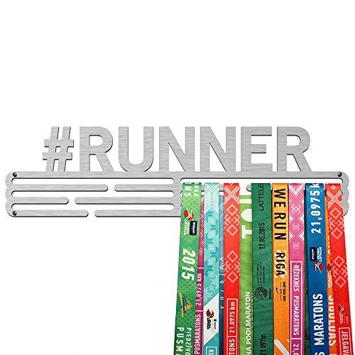 United Medals Porta Medaglie #Runner | Espositore in Acciaio Inossidabile (43cm / 48 Medaglie)
