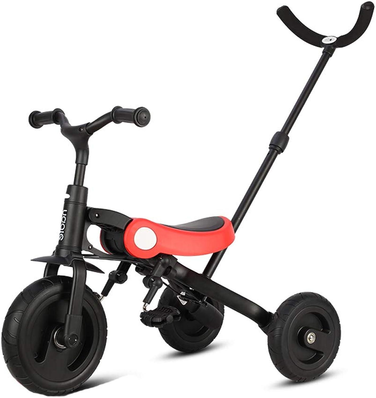 mejor calidad mejor precio Minmin-chezi Triciclo de de de Niños Bicicleta multifunción Trolley para Niños Plegable de Tres en uno Bicicleta de bebé Ligera 2-5 años de Edad Azul Cielo (Color   rojo)  hasta un 60% de descuento