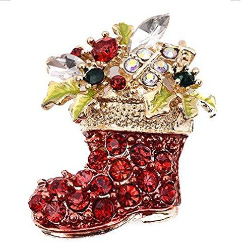 Demarkt Broche à Chaussette Style Broches de Noël pour Homme ou Femme