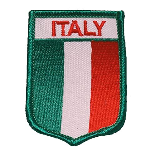 Gestickter Aufnäher Bügelbild Patch Aufbügler Iron on Applikation (1, Flagge Italien)