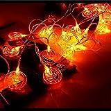 lpf Halloween-Kürbis-Beleuchtung LED-Lichterkette Batteriekasten Grenze Pendelleuchte for Festliche Dekoration Halloween entworfen (Size : A)