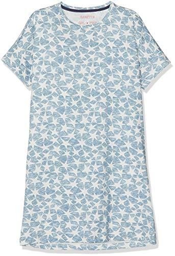 Sanetta Mädchen Sleepshirt Short Allover Nachthemd, Blau (Coronet Blue 50301), 128