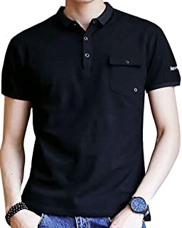 Semida 夏服 ポロシャツ メンズ 半袖 通気性 吸汗速乾 poloシャツ ゴルフウェア シンプル 春夏季対応 トップス S826