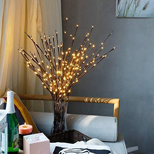 Tree Branch Light, Decorative Twig Branch Lights with 20 Warm White LED Battery Powered for Home Decoration Party Wedding Garden Decor