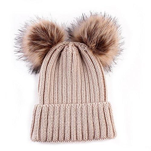 Baby Winter Warm Hat, Baby Newborn Knit Hat Infant Toddler Kid Crochet Hat Beanie Cap Khaki