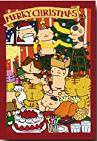 猫のクリスマスポストカード 「パーティーがはじまるよ」 猫の絵葉書 和道楽