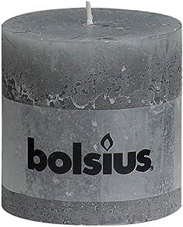 RUSTIC Candle, Parafin Wax, Light Grey, Medium