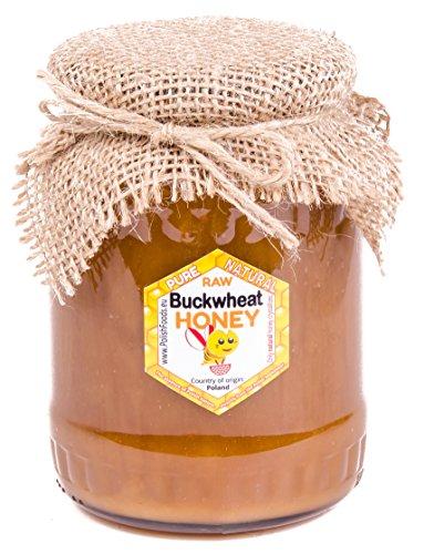 Miele di grano saraceno da Polonia. 1 kg. Non pastorizzato, naturale. Molto sano e gustoso.