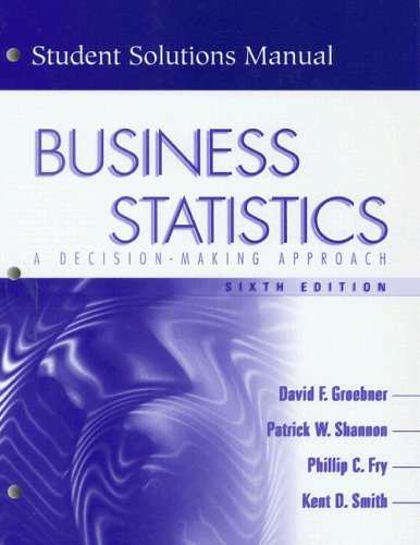 Business Statistics: A decision-making Approach (Student Solutions Manual, 6th Edition)
