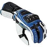 FLM Motorradhandschuhe kurz, Motorrad Handschuhe Sports Lederhandschuh 2.1 schwarz/blau 10, Herren,...
