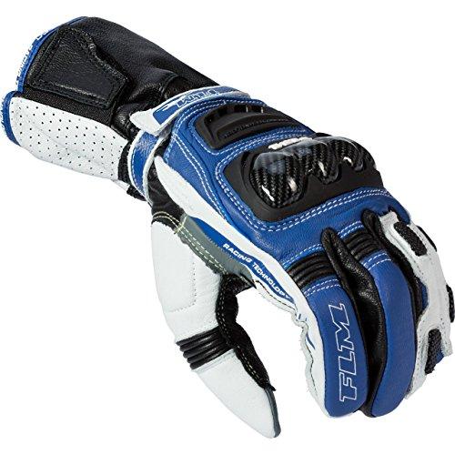FLM Motorradhandschuhe kurz Motorrad Handschuh Sports Lederhandschuh 2.1 schwarz/blau 7, Herren, Sportler, Ganzjährig