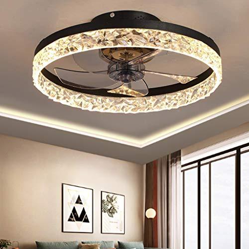 Ventilador De Techo LED Ventilador Invisible Luz Ajustable Barra Moderna Dormitorio Lámpara De Techo Regulable Sala De Estar Control Remoto Ventilador Silencioso Habitación De Los Niños Oficina,Negro