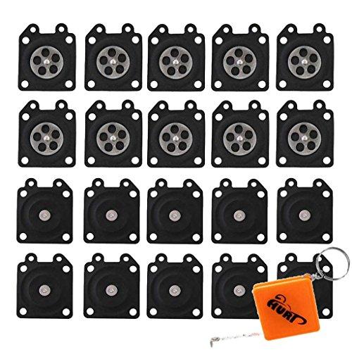 HURI Lot de 20 Carburateur Membrane Joint Diaphragme Réparation kit pour Walbro 95-526 Carb WA WT WY WZ Series Stihl Partner Echo Husqvarna