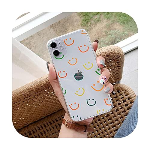 Happy Smiley Love - Carcasa para Samsung Galaxy S10, S21, S20, S10E, S9, S8 Plus, Note 8, 9, 10, 20, silicona, transparente, 3 para Galaxy Note 9