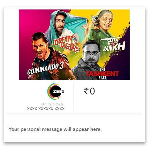 ZEE5 1 Month Subscription Digital Voucher - Rs.99