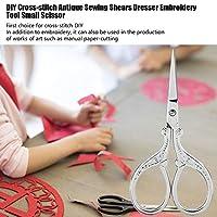 縫製はさみ縫製はさみレトロメタルはさみクロスステッチドレッサーはさみ縫製用ホームクラフト(Silver)