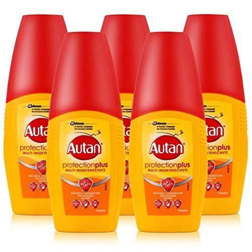 Autan Protection Plus Multi Insektenschutz Pumpspray 5er Pack ( 5 x 100ml )