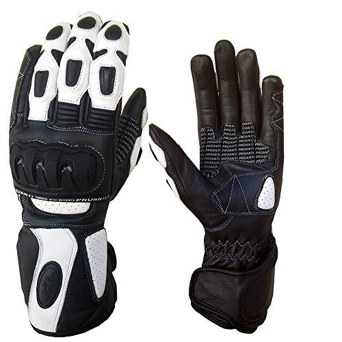 PROANTI Damen Motorradhandschuhe Ladies Racing Motorrad Handschuhe Größe M
