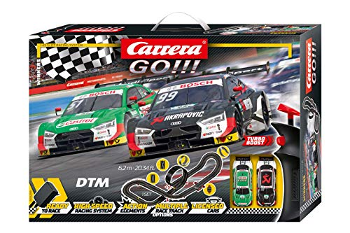 Carrera GO!!! Winners Rennstrecken-Set | 6,2m elektrische Rennbahn mit Rockefellers & Muellers Audi RS 5 Spielzeugauto | mit 2 Handreglern & Streckenteilen | Für Kinder ab 6 Jahren & Erwachsene
