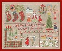 クロスステッチ刺繍キット 2683 Tableau Abecedaire Noel クリスマスの風景