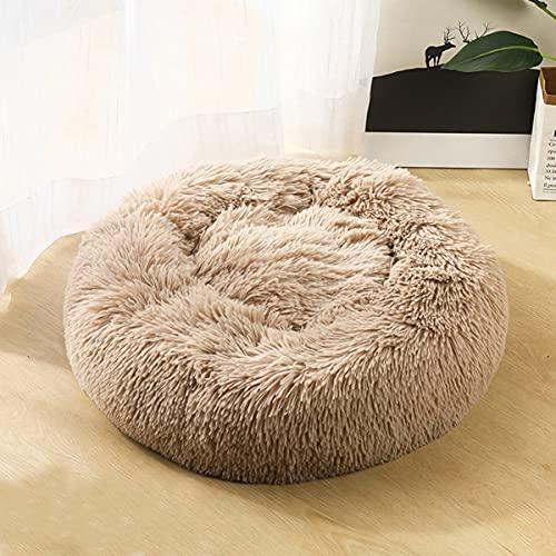 VISSJF Cama para Perros Donut Cat Bed Cozy Pet Dog Bed Llush Cuddler Soft Puppy Sofá Cojín De Perros Máquina Sofá Sofá Cama,A,60cm