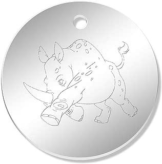 MunkiMix Acier Inoxydable Anneau Bague Noir Ton dargent Rhinoc/éros Rhinoceros Rhino Homme
