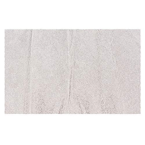 HEEPDD 24 x 40 cm Strass Mesh SS6 Shiny Kristallglas Bohrer Band Mesh Rolle Selbstklebende Trim Kristall für Kunsthandwerk DIY Event Dekoration Geschenk Telefon Dekoration(Weiß)