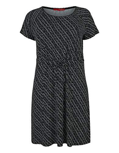 THEA by Adler Mode Damen TH 05-20 Kleid schwarz/weiß 58