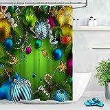 gwregdfbcv Decoración navideña Bola Caña Cinta Tela Molde Colgante de baño Creativo con 12 Ganchos 180X180CM