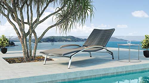 ARTELIA Inca Edelstahl Gartenliege - Sonnenliege für Garten, Terrasse und Balkon, Relaxliege Edelstahl