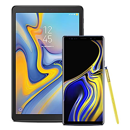 "Samsung Galaxy Note 9 Factory Unlocked Phone with 6.4"" Screen and 128GB, Ocean Blue with Galaxy Tab A, 10.5"", Black"