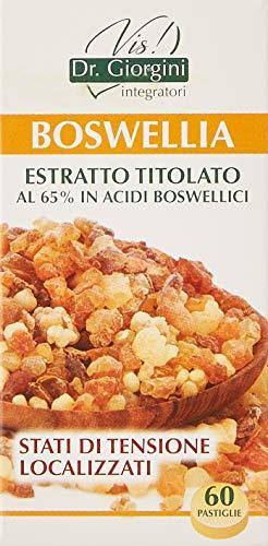 Dr. Giorgini Integratore Alimentare, Monocomponenti Erbe Boswellia Estratto Titolato al 65% in Acidi Boswellici Pastiglie - 30 g