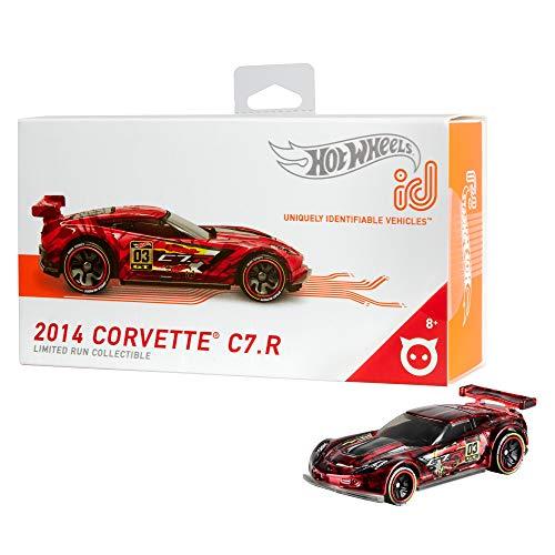 Hot Wheels iD FXB04 - Die-Cast Fahrzeug 1:64 Corvette C7R mit NFC-Chip zum Scannen in der Hot Wheels iD App, Auto Spielzeug ab 8 Jahren