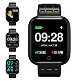 Fitness Tracker, KUNGIX Smartwatch Android iOS Orologio Fitness Intelligente Uomo Donna Bluetooth Smart Watch Braccialetto Sport Pedometro Monitor di Sonno Di Salute Impermeabile IP67