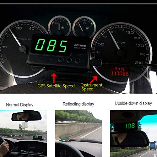 Etc Heads Up Display HUD Screen Pyle Sound Around PHUD15.5 Plug Play w//Speed Time GPS Navigation Compass Universal 5.5/'/' Car Head-Up Windshield Display w//Multi-Color Screen Projector Vehicle Speed Altitude
