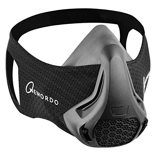 Elevation Workout Training Mask with 48 Breathing Levels High Altitude Simulation Reusable Face Mask for Sports Fitness Running Cycling Gym Men and Women Builds Endurance and Stamina Black