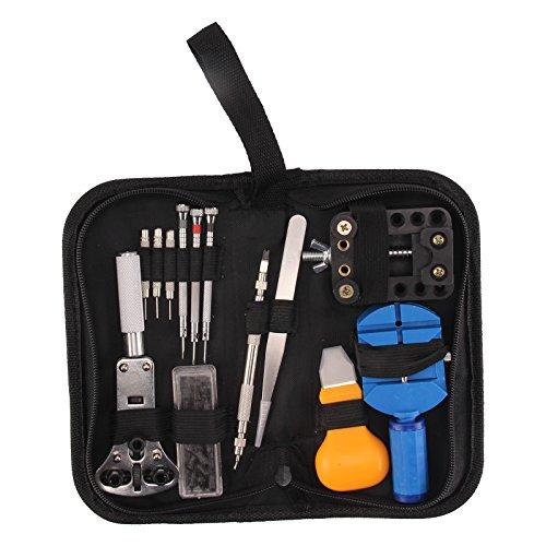 AllRight 390tlg Uhrenwerkzeug Gehäuseschließer Uhrenmacherwerkzeug Werkzeug Uhrwerkzeug