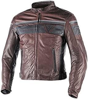 Dainese Blackjack Leather Motorcycle jacket (56, Brown/Black)
