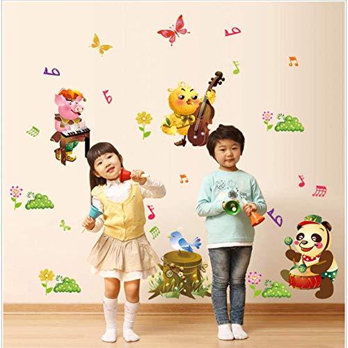 GWFVA Kinderkamer Bank Achtergrond Combinatie Muursticker 60 * 90Cm Panda Animal Concert Sticker