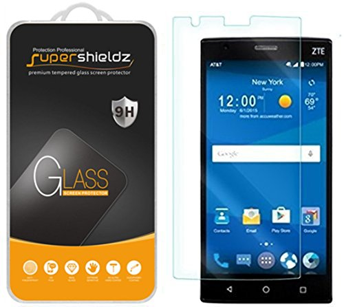 Supershieldz for ZTE Zmax 2 Tempered Glass Screen Protector, Anti Scratch, Bubble Free
