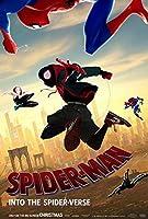 【フレーム付-黒-】映画ポスター スパイダーマン スパイダーバース マーベル A3サイズ US版 mi2 [並行輸入品]