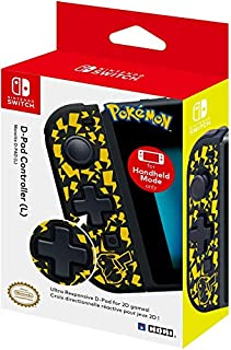 Nintendo Switch D-Pad Controller (L) (Pikachu) by HORI - Officially Licensed by Nintendo (B07HMN7TVB)   Amazon price tracker / tracking, Amazon price history charts, Amazon price watches, Amazon price drop alerts