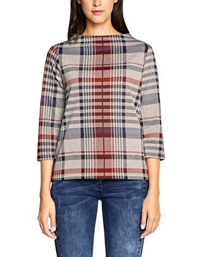 Street One Damen 300976 Krisi Sweatshirt, Mehrfarbig (Bisquit Melange 31851), (Herstellergröße:44)